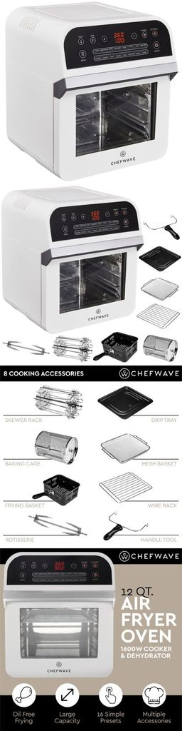 ChefWave 12.6 Quart Air Fryer Info
