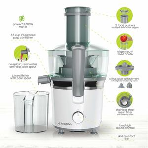 Juiceman JM850 Power Plus 2 Speed Compact Juicer